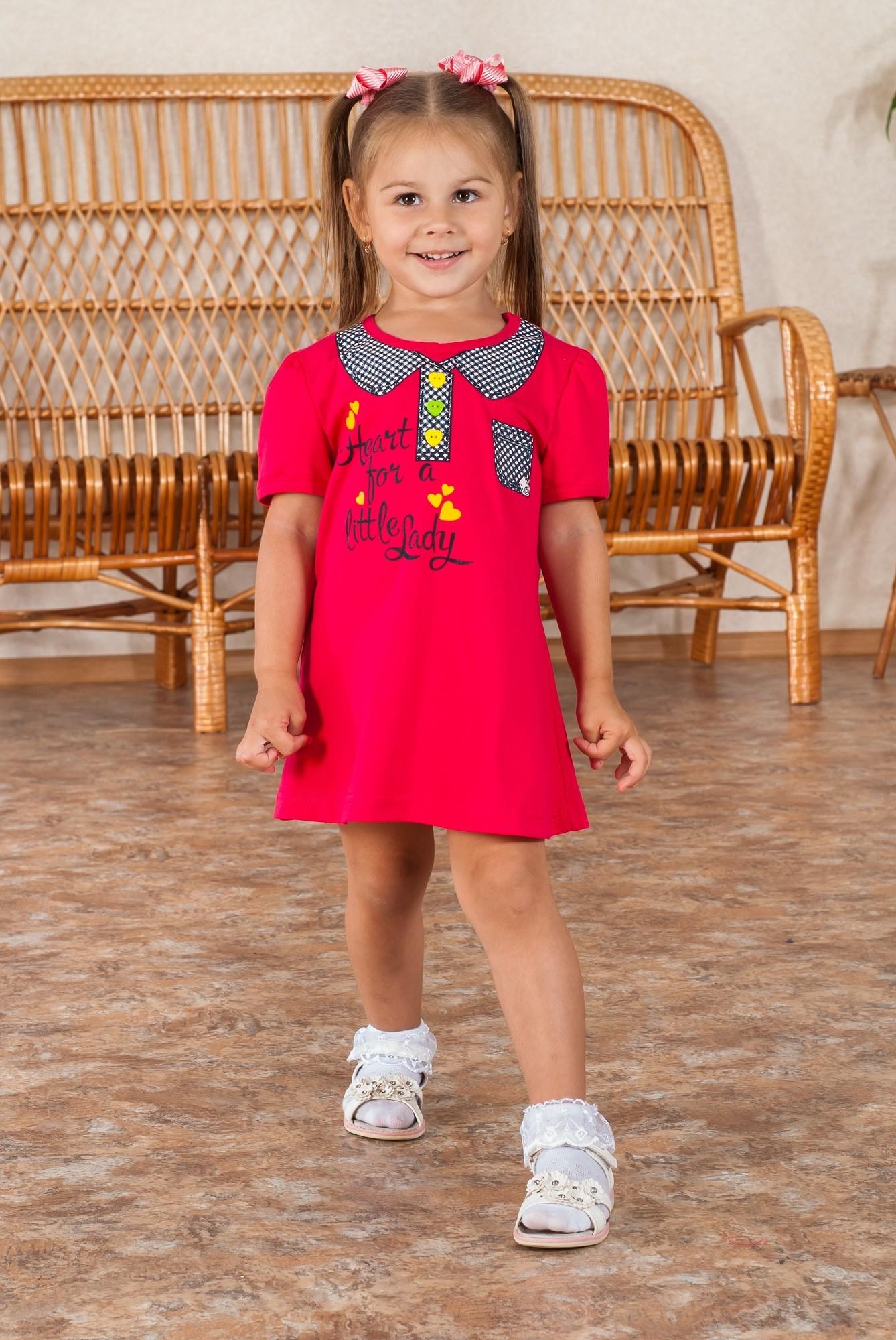 Купить детский трикотаж Платье пуговка от производителя г. Иваново ... d19c11b5701